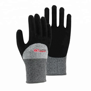 New Style Work Anti Impact Glove Nitrile Coated Gloves EN388