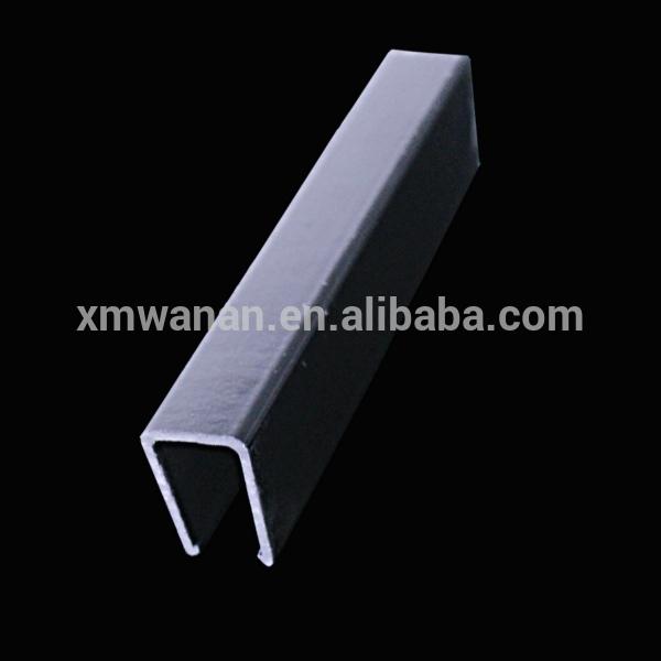 10 mm en forme de u canal en plastique noir en pvc profil. Black Bedroom Furniture Sets. Home Design Ideas