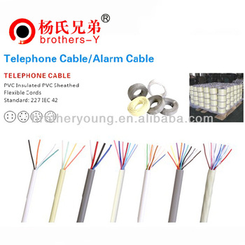 flat 4c telephone cable for indoor telephone cords wires accessories Telephone Wiring System flat 4c telephone cable for indoor telephone cords wires accessories equipments telephone line
