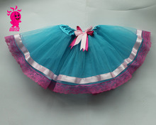 Wholesale lace tutu skirt for girls,lace lined Tutu Skirt ballet tutu with bow