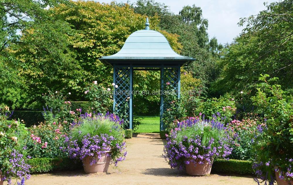 Luxueux Jardin Retraite en fer forgé jardin obélisque améthyste ...