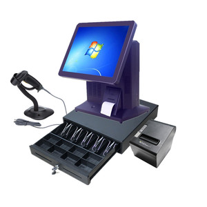 "15"" POS for payment system bank retails bars touch screens capacitive all in one pos"