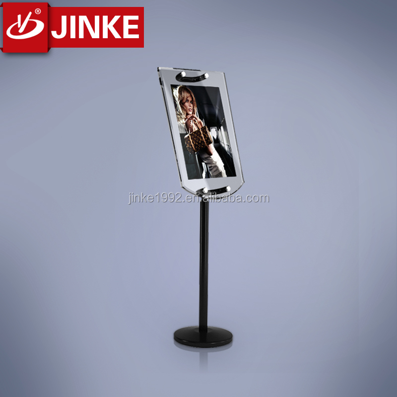 JINKE Christmas Black Metal A4 Double-sided Advertising Display Stand Poster Stand KT Board Sign Holder Menu Display Stand