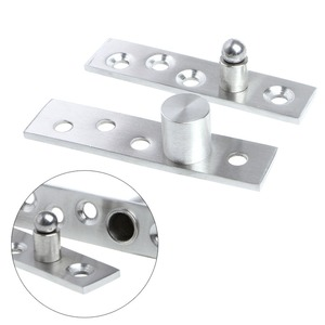 Up-Down Shaft Stainless Steel Door Rotating Hinge Pivot 75-100mm 360 Degree Furniture Hinges