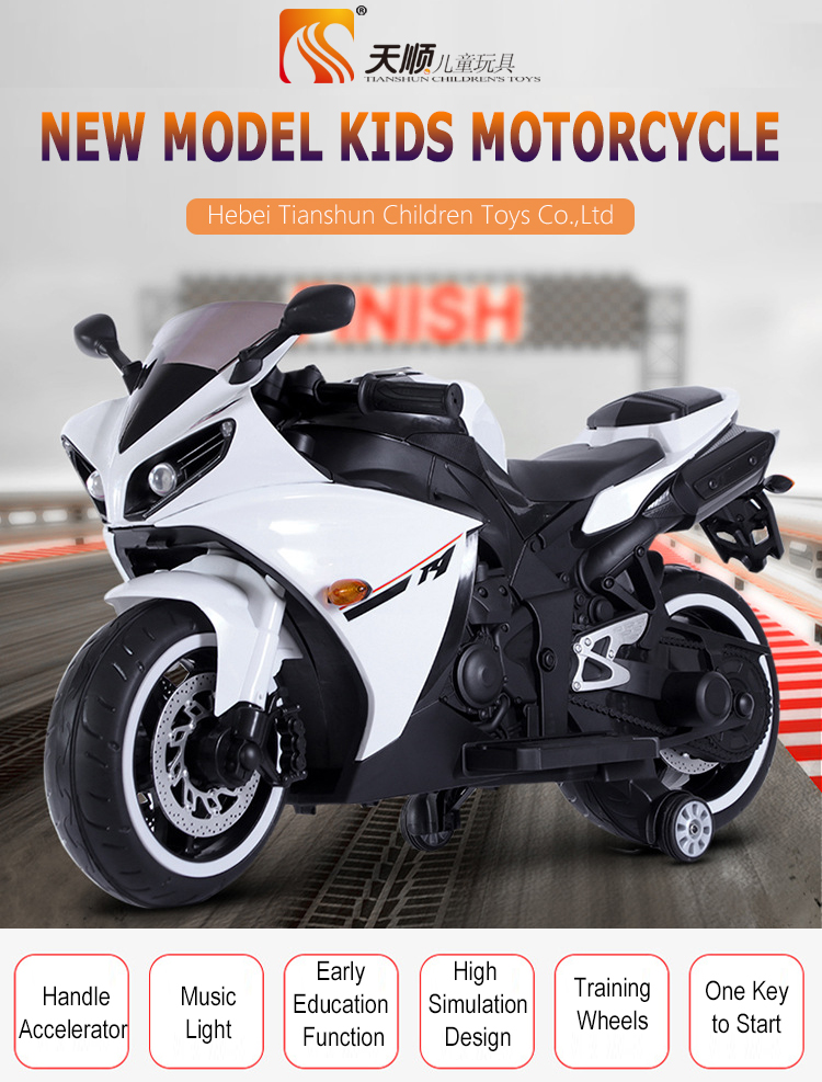 Motocicleta de juguete recargable para niños con nuevo diseño a la moda