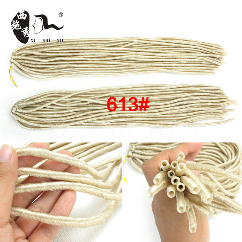2016 new #613 popular Soft Dreadlock Hairs Hair Piece in Bulk for Black People