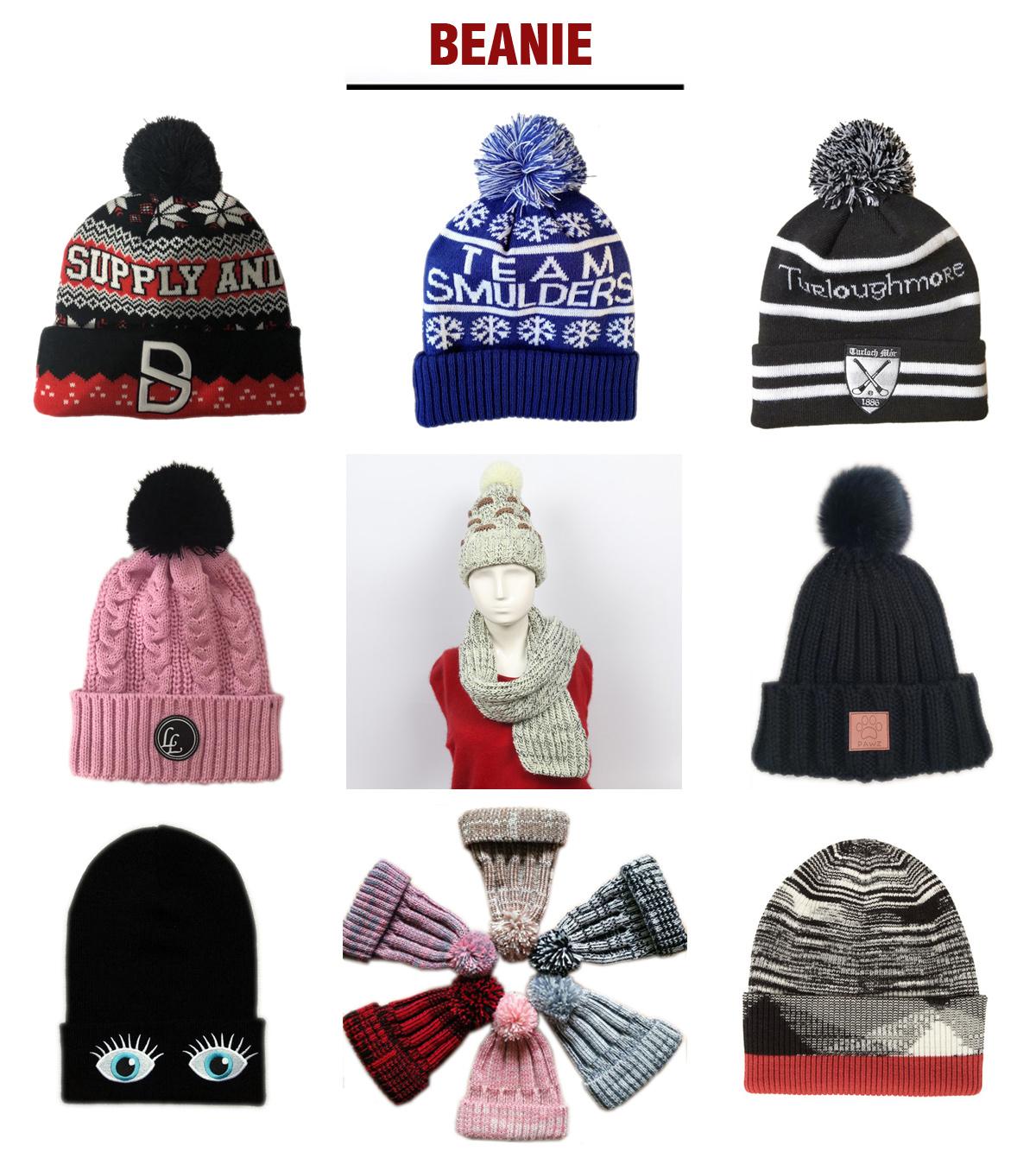 子供サイズ大手紙ビーニー刺繍ロゴニット帽子トップボールと冬