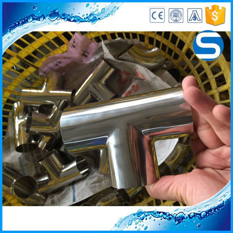 Wholesale Sanitary Pipe Fitting Clip On Ss304 Ss316l Stainless Steel Tee