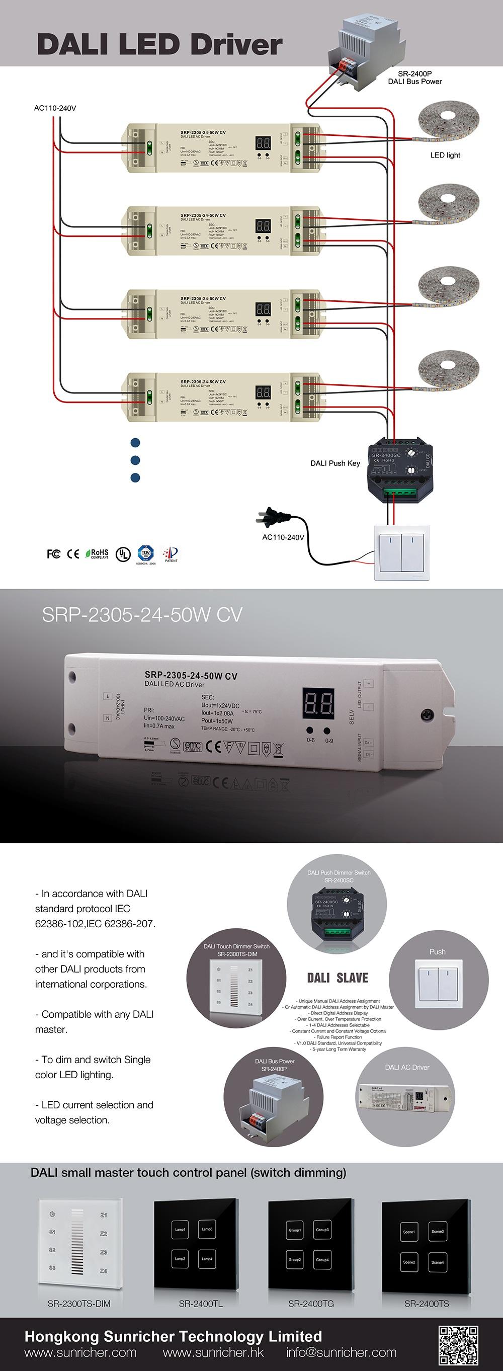 Sunricher 24v Dali Led Driver Buy Product On Drivers Wiring Diagram 240v