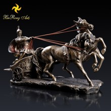 Gift & Crafts indoor home decoration roman chariot resin statue for sale