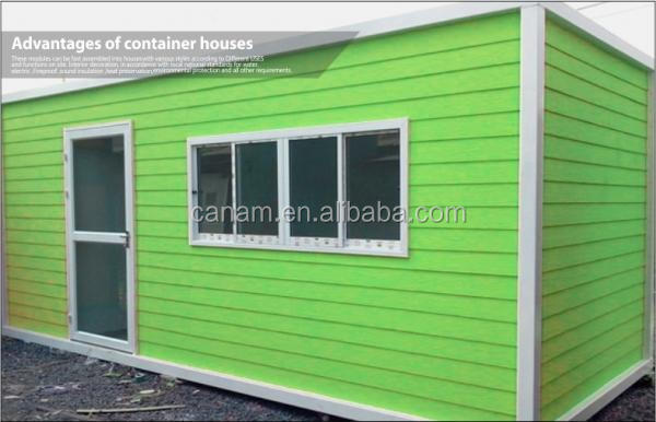 Extended Foldable Storage Container House With Glass Sliding Door