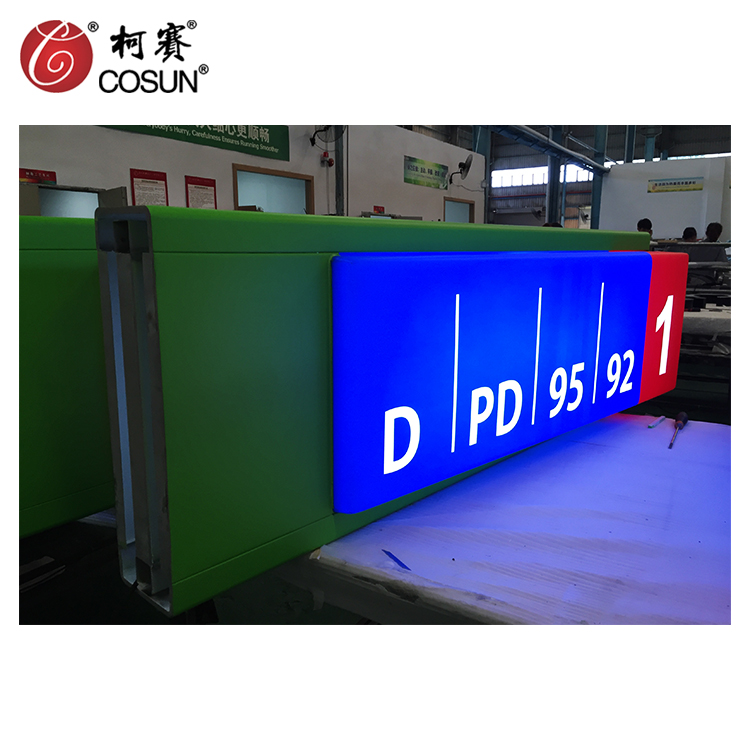 Free standing high quality aluminum led pylon sign for gas station