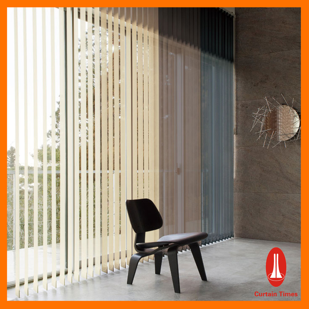 Curtain Times Aluminum Vertical Blinds With Electric Remote Control ...