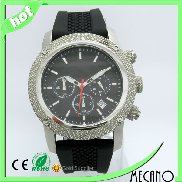 Relojes de pared watches with stainless steel watch case and silicone watch strap