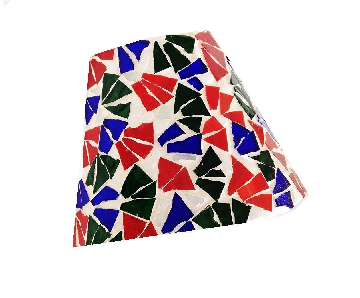 "5.5"" x 5 inch Mosaic Night Light Shade Red, Blue, Green"