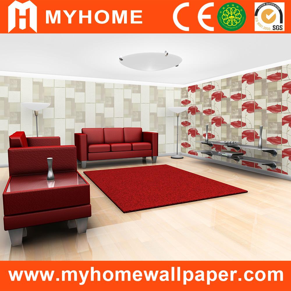 Papel tapiz decorativo paneles de pared del pvc 3d papel for Paneles de pvc para paredes