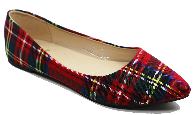 Walstar Women's Comfortable Point Toe Flat Pumps Shoes