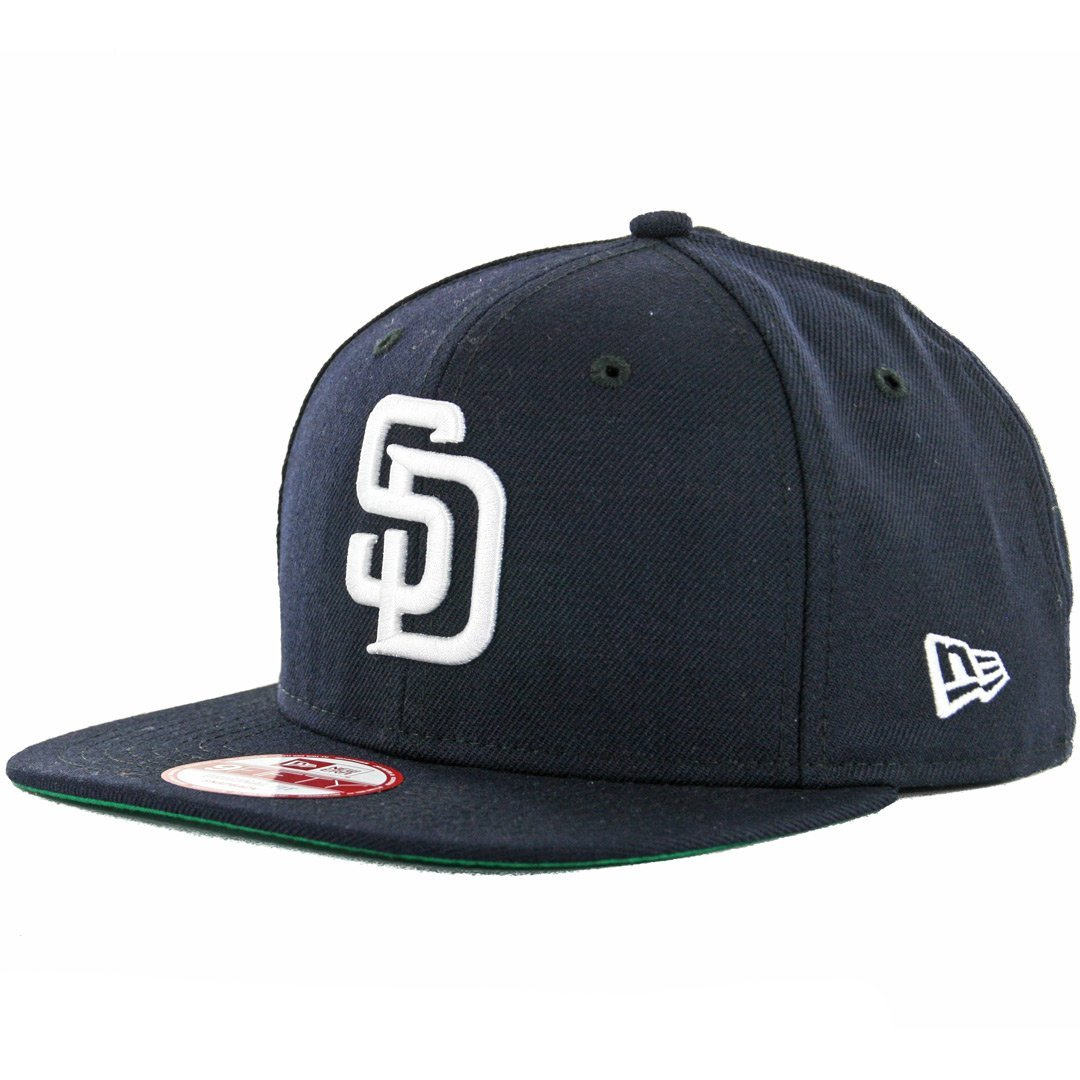 7c5acee7865 Get Quotations · New Era 9Fifty San Diego Padres Snapback Hat (Navy White) Men s  Custom Wool