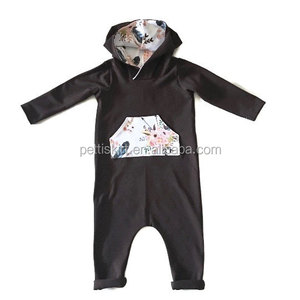9f895b25e92 Baby names for boys kids stretchy cotton romper long sleeves baby pink  hooded jumpsuit