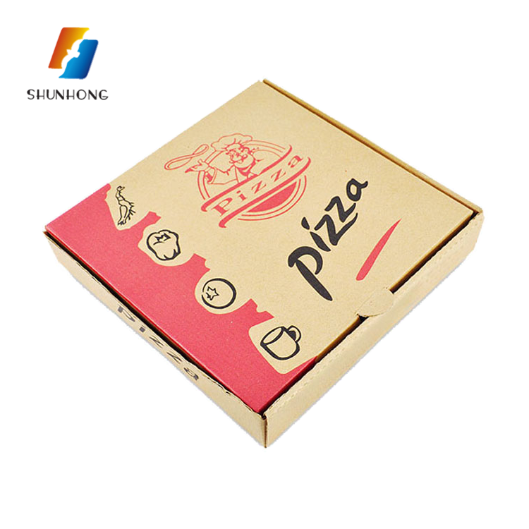 Wholesale Cheap Empty Custom Printed Delivery Corrugated Pizza Boxes Design With Logo