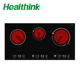 Kitchen appliances 3 burners Touch control Electric infrared cooker ceramic hob