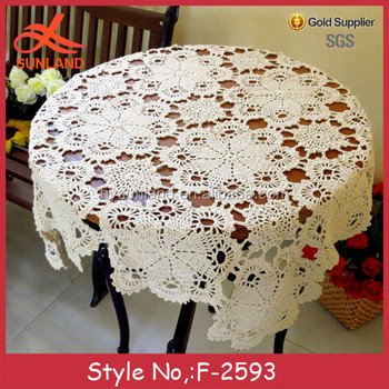 F 2593 Vintage Crochet Free Cotton Tablecloth Patterns Hndmade