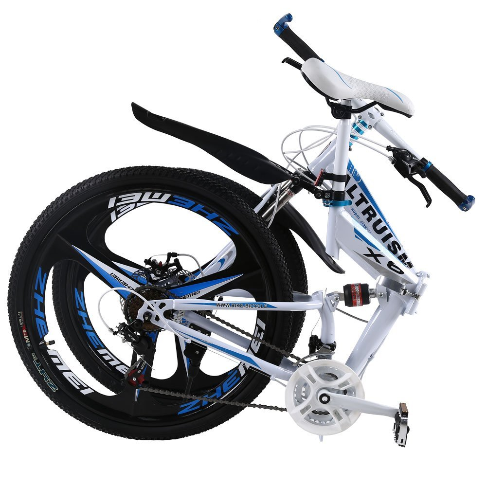 ALTRUISM X6 Folding Bike Frame 26 Inch Aluminium Mountain Bicycle 21 Speed Disc Brakes Bike Tall Man Mtb Bike 2 Color Choose Ce Rohs