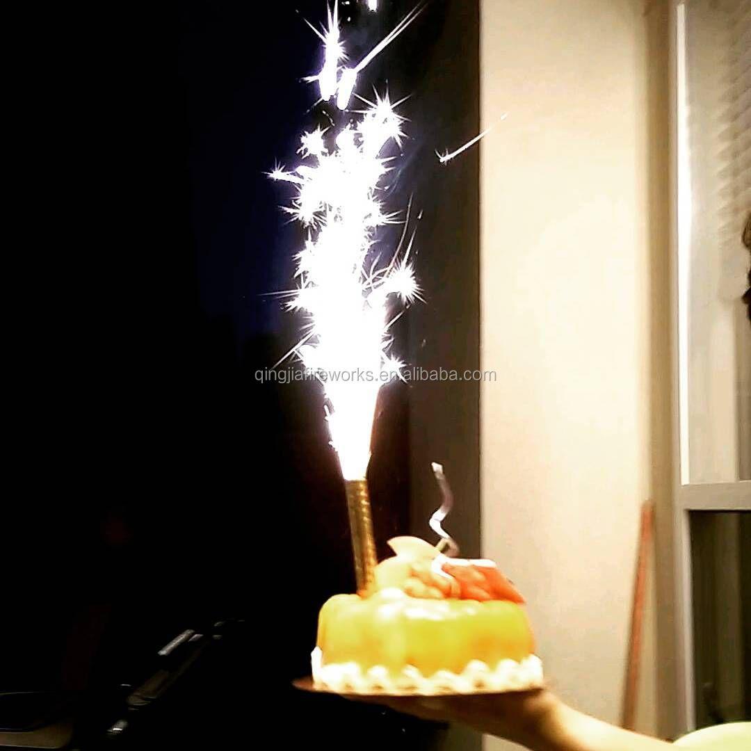 Smokeless No Smell Indoor Firecracker Birthday Cake Firework Candle