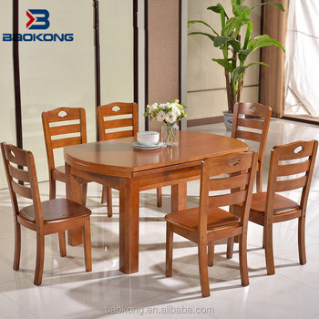 Philippine Dining Table Set Solid Wood Folding Top