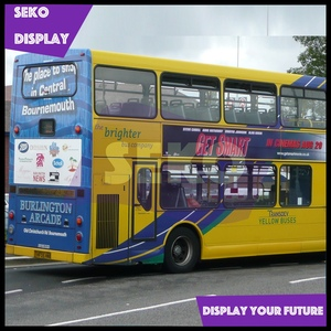 Bus advertising vinyl stickers 3M PVC vehicle wrap