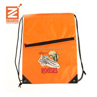 Waterproof Lightweight Custom polyester cheap gym bags drawing string shoe storage bag