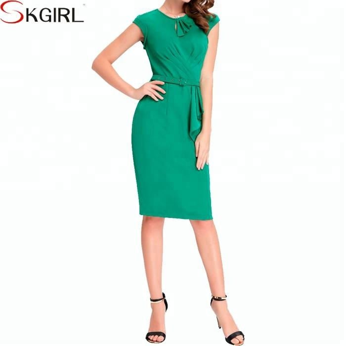 Victoria Beckham 50s' style fashion plus size retro bodycon sheath formal pencil dress