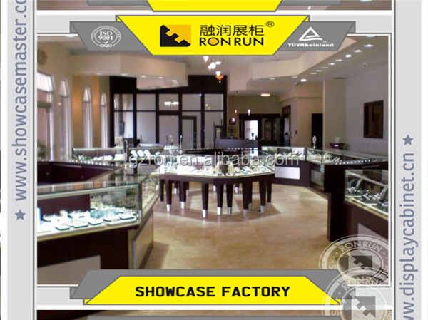 2017 Top rated high end jewelry shop decoration layout design furniture