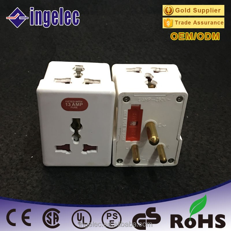 Wholesale One to three multi outlet 3 round pin 15a power south africa plug