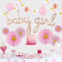 Girl Baby Shower Decorations Set Pink Party Decor Kit for It's a Girl Baby Showers