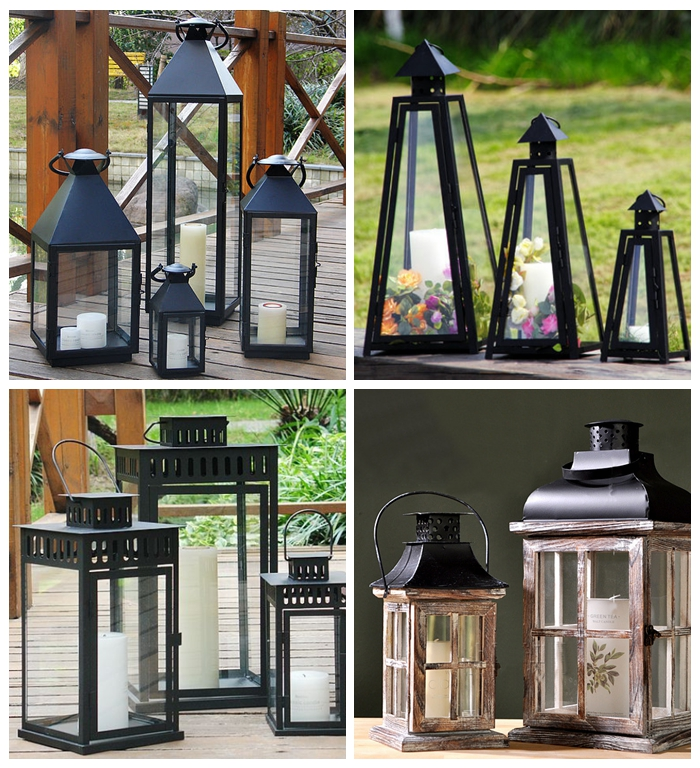 Office Red Black All Colors White Vintage Iron House Candle Lantern Candle Diy Wedding