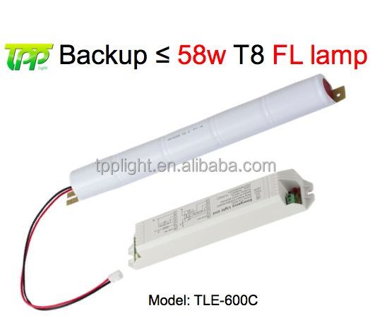 Emergency Power Pack 1.5 Hour Converter Battery Backup Fluorescent Lamp 58W T8