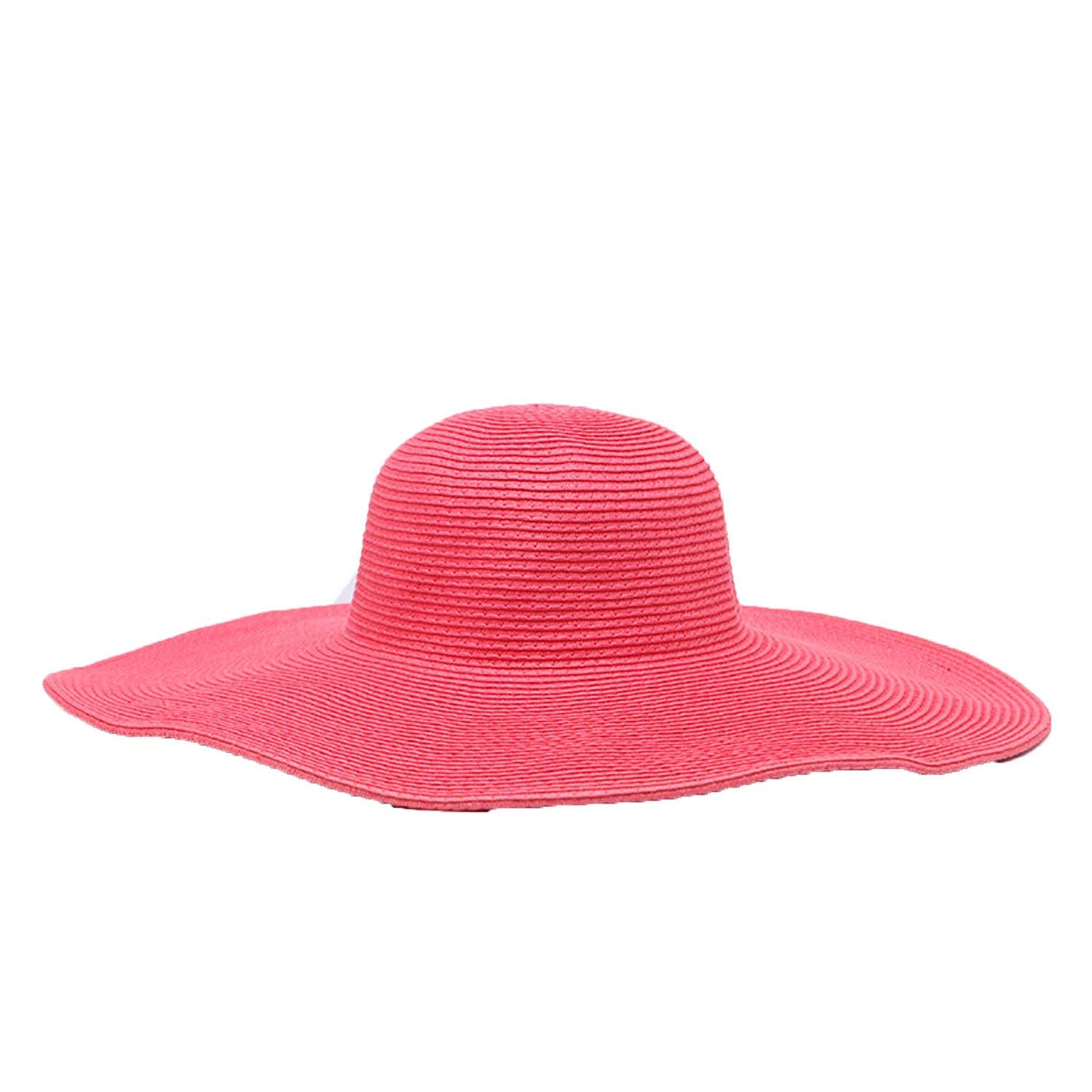 Collocation-Online Wide Brim Floppy Kids Straw Hat Beach Summer Travel Cap Lady Girls