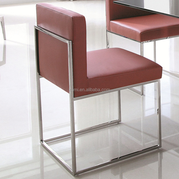 Incroyable Low Back Stainless Steel Square Legs Dining Chair