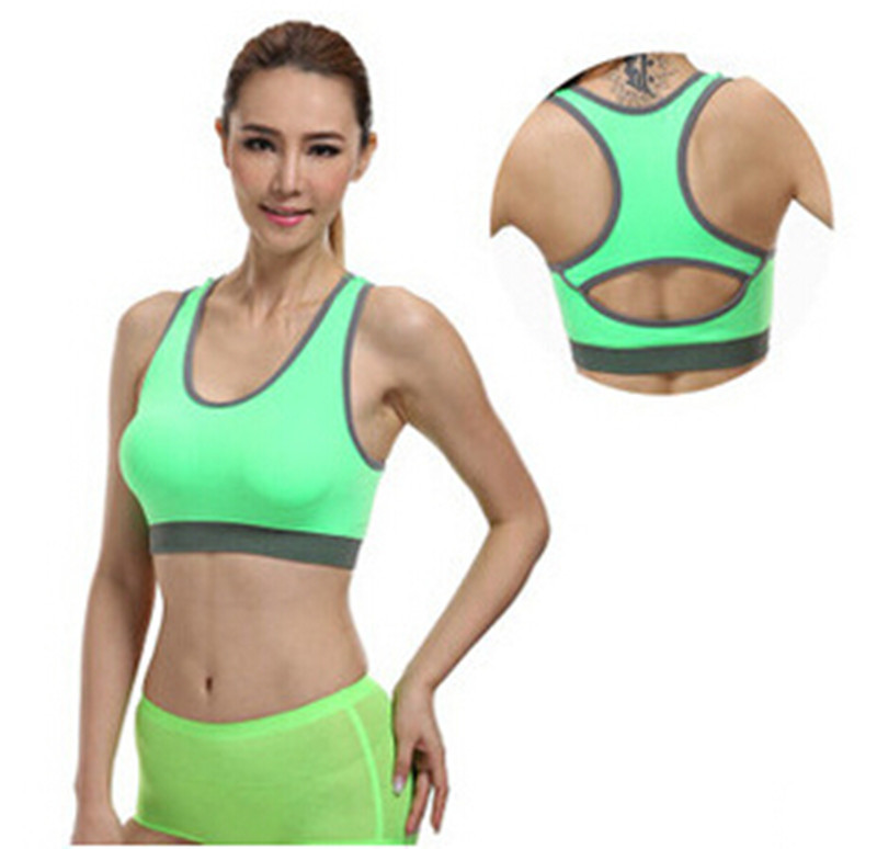 b6d3488fd1 Get Quotations · Women Sports Bras Crop Tops Active Padded Push Up Strappy  Bras Fashion Women Tight Fitted Sports