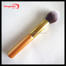Gold makeup powder brush free samples,make up top quality ds cosmetics hair brush