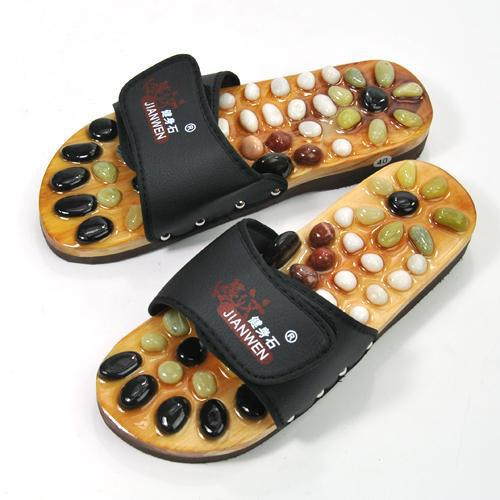 Wholesale black health care Timor cobblestone massage slippers / health foot shoes to give them foot massage slippers