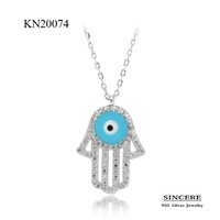 women evil necklace in 925 sterling silver jewelry
