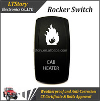 lluminated rocker switch with special labels