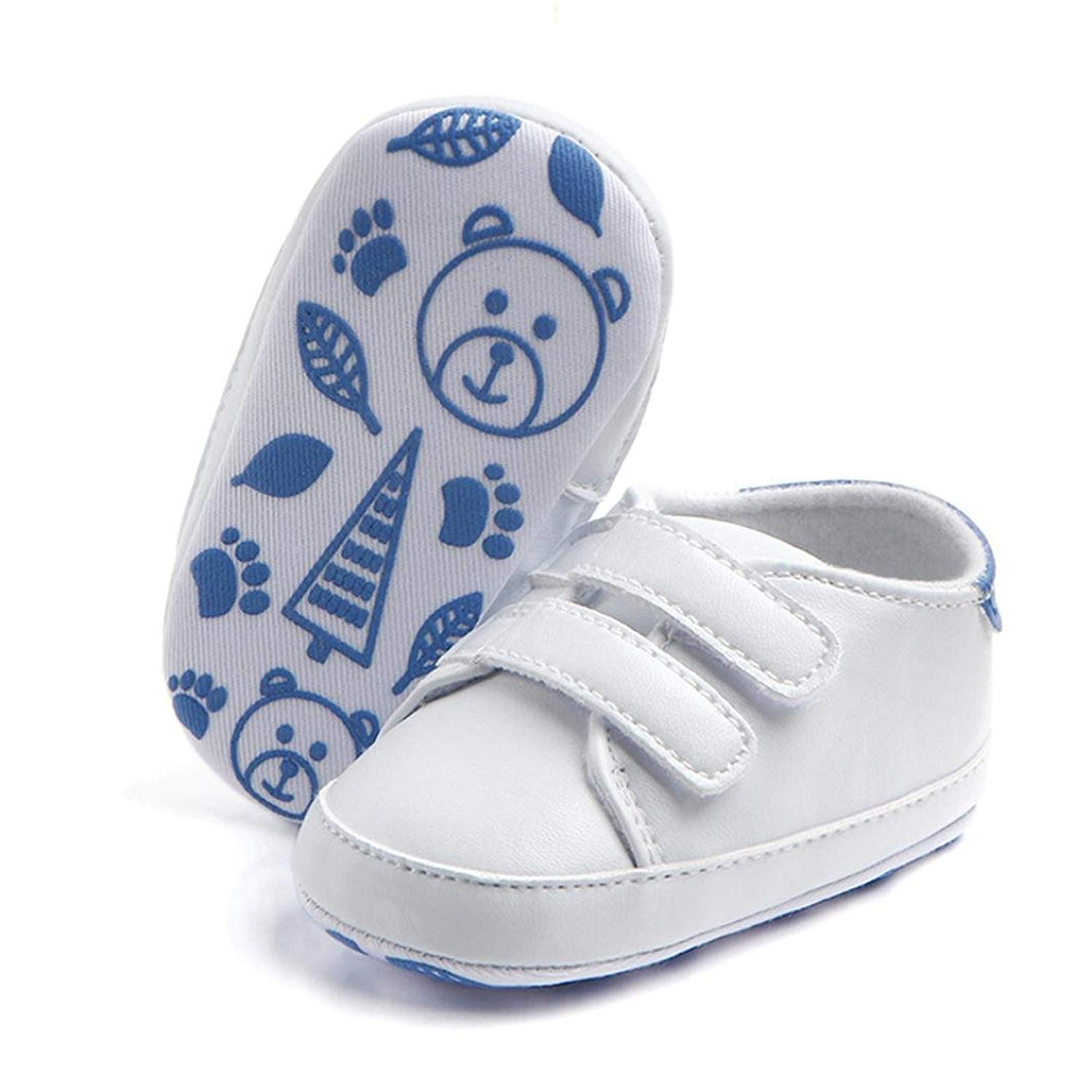 Suma-ma Paste Buckle Soft Sole Anti-Slip Sneakers Shoes For Newborn Infant Kids Baby Boys Girls 3-12M