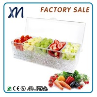 Professional food grade plastic chip and dip trays