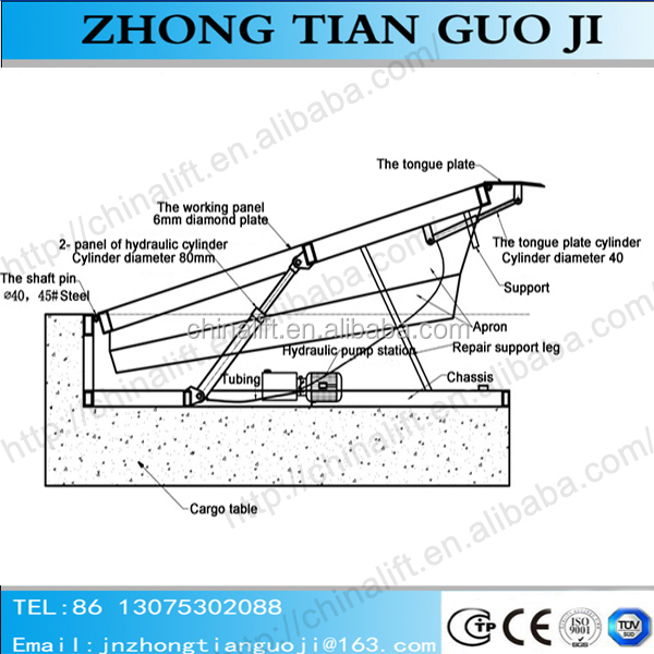zhongtian dock leveler warehouse ramp stationary adjustment height rh alibaba com