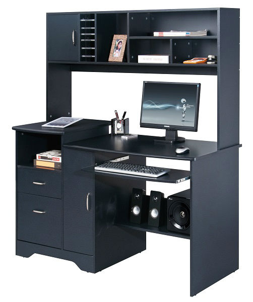bureau ordinateur noir maison design. Black Bedroom Furniture Sets. Home Design Ideas