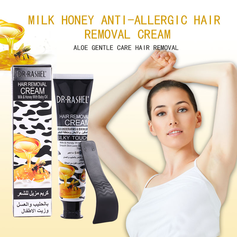 Dr Rashel 110ml Milk Honey Baby Oil Smooth Skin Legs Depilatory
