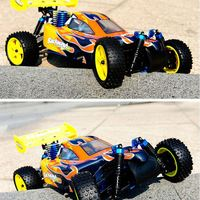 radio control car hsp 1/10 nitro 4wd rc buggy